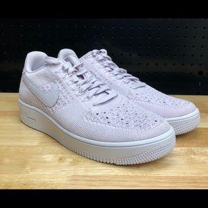 Nike Men Air Force 1 Ultra Flyknit Low Sneakers TRIPLE WHITE 817419 101 Size 9.5